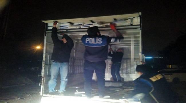 15 bin 500 paket kaçak sigara yakalandı