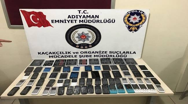 63 Kaçak Telefon, 9 Tablet Yakalandı