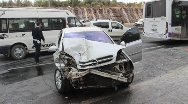 Akabe'de Zincirleme Kaza, 1 Yaralı
