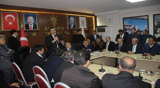 Bakanlar AK Parti Şanlıurfa İl Başkanlığını Ziyaret etti