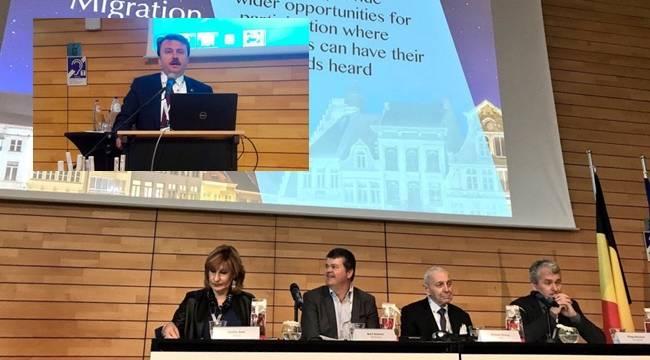 Erkoç, Belçika'da Şehirler ve Küresel Göç konferansına katıldı