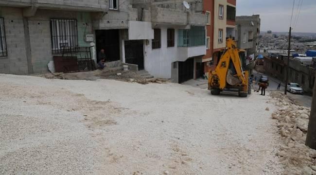 Eyyübiye'de yol yapım çalışmaları sürüyor-Videolu Haber