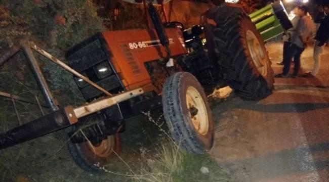Haliliye'de Traktör Şarampole Düştü