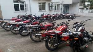 Harran, Akçakale ve Suruç'ta 76 Çalıntı Motor Yakalandı