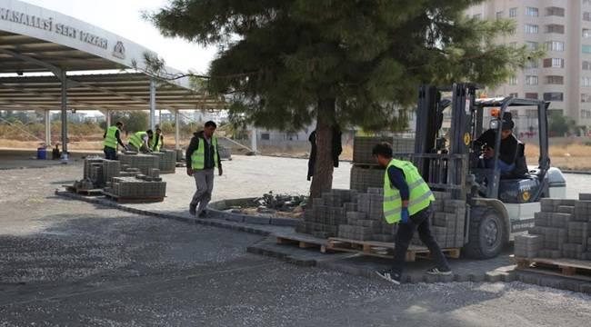 Karaköprü'de Kilitli Parke Çalışmalarına Hız Verildi- Videolu Haber