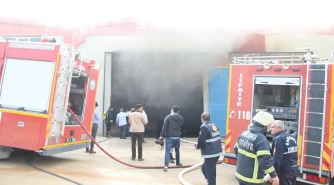 Şanlıurfa 1'inci Organize Sanayi Bölgesinde Yangın