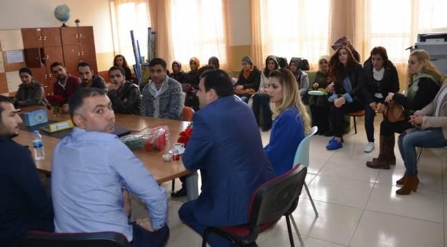 Turan, Hayati Harrani İmam Hatip Ortaokulunu Ziyaret Etti