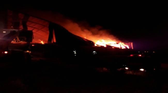 Urfa'da Fabrika Cayır Cayır Yandı
