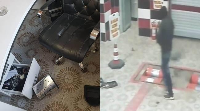 Ekspertiz merkezinin bilgisayarını çaldılar