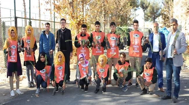 Harran'da Köy Okulları Ağaçlandırılıyor