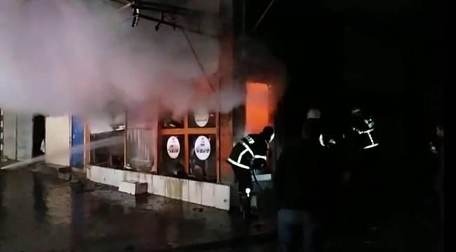 Oto Yedek Parça Dükkanında Yangın