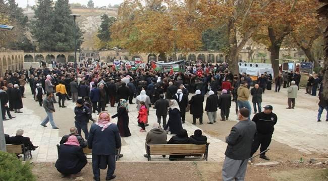 Şanlıurfa'da ABD'nin Kudüs kararı protesto edildi