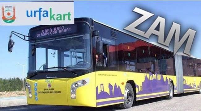 Şanlıurfa'da Toplu Taşımaya Zam