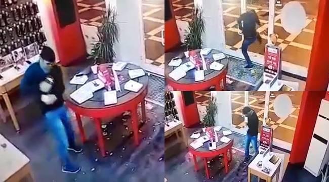 Urfa'da 25 saniyede 9 Cep Telefonu Çaldı-Videolu Haber