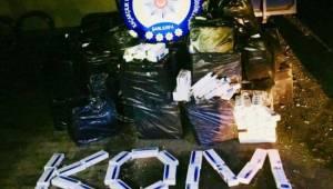 Urfa'da 55 bin paket kaçak sigara ele geçirildi