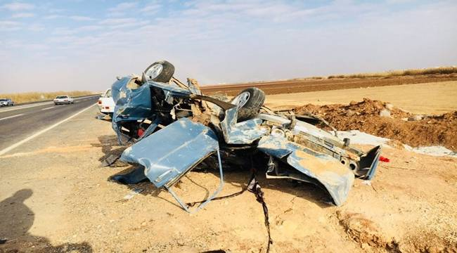 Urfa'da Otomobil Takla Attı, 1 Ölü 3 Yaralı