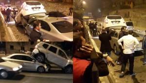 Urfa'da Zincirleme Kazada Araçlar Üst Üste Bindi