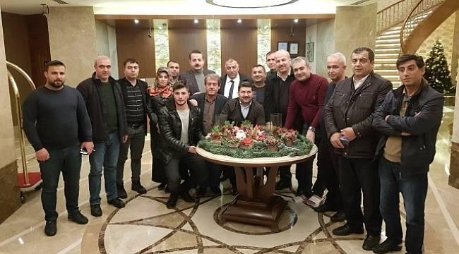 Urfalı Gazeteciler Faruk Çelik'i Ziyaret Etti