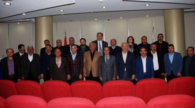Vali Kalkancı ATSO meclis üyeleriyle buluştu