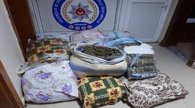 Viranşehir'de 120 kilo esrar ele geçirildi