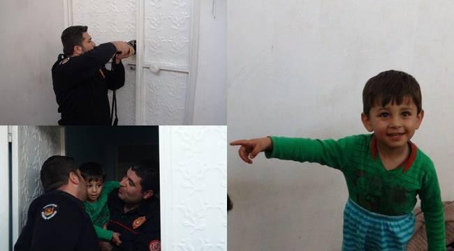 2 Yaşındaki Çocuk Evde Mahsur Kaldı