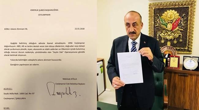 Ceylanpınar Eski Belediye Başkanı Atilla'dan Askerlik Başvurusu