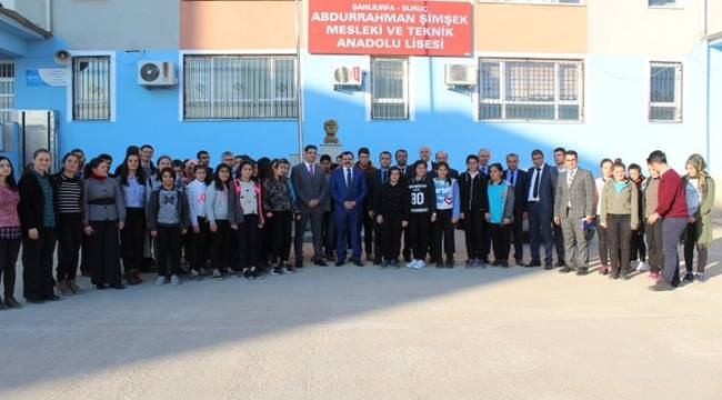 İl Milli Eğitim Müdürü Turan Suruç'ta İncelemelerde Bulundu