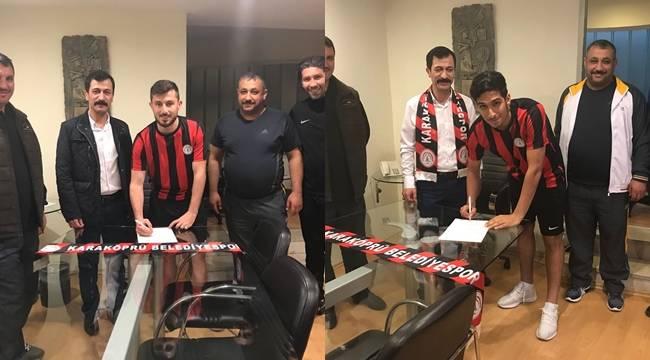 Karaköprü Belediyespor Şanlıurfaspor'dan iki Oyuncu Transfer Etti
