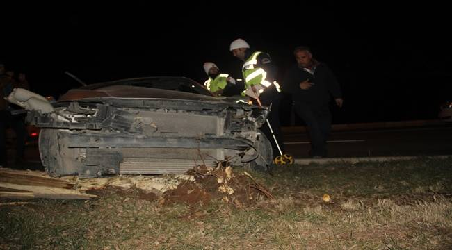 Karaköprü'de Otomobil Takla Attı