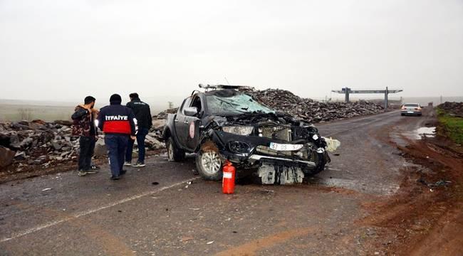 Siverek'te İtfaiye Öncü Aracı Kaza Yaptı
