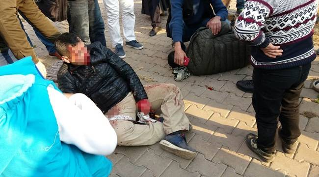 Siverek'te motosiklet kazası, 2 yaralı