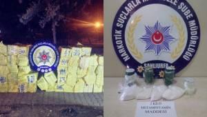 Urfa'da 33 Bin Paket Kaçak Sigara, 2 Kilo Metamfetamin Yakalandı
