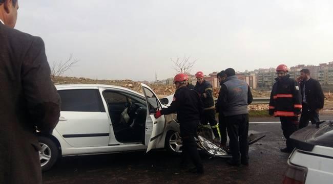 Akçakale çevre yolunda kaza 1 yaralı