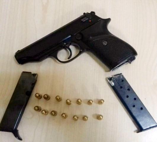 Ceylanpınar'da ruhsatsız tabanca ele geçirildi
