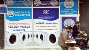 Dar Gelirli Aileler için Akçakale'de Çamaşırhane Hizmeti-Videolu Haber