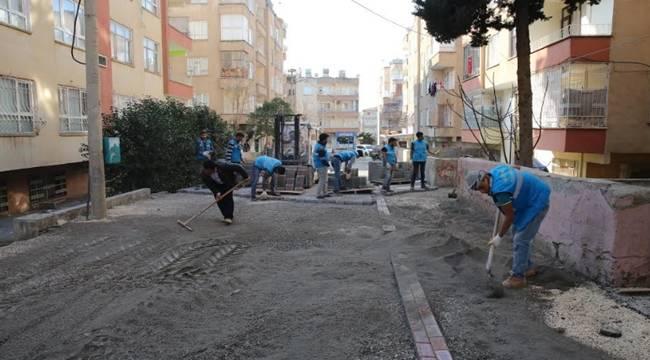 Selahaddin Eyyubi'de Beton Parke Çalışması-Videolu Haber