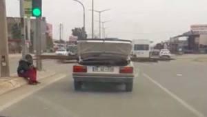 Trafik'te Tehlikeye Davetiye Çıkarttı