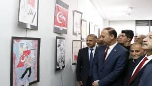 15 Temmuz Kahramanları Resim Sergisi Açıldı
