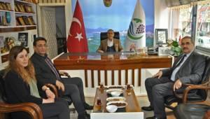 Bölge Müdürü Ünver ile Başkan Özdemir Bir Araya Geldi