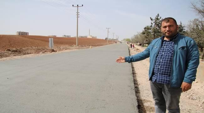 Bozova'da Beton Yol Çalışması-Videolu Haber
