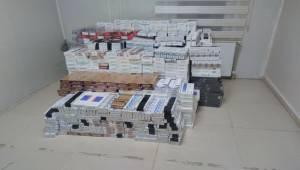 Ceylanpınar'da Kaçak Sigaralar Yakalandı