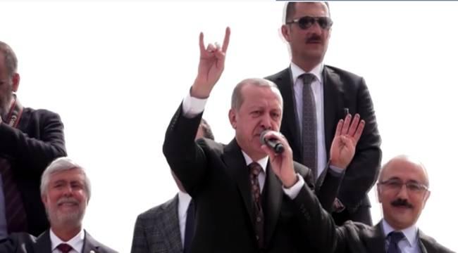 Cumhurbaşkanı Erdoğan Bozkurt İşareti Yaptı