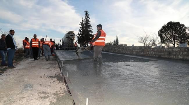 Halfeti'de Beton Yol Çalışmaları Başladı-Videolu Haber