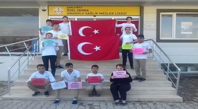 Kaman'dan Şanlıurfa'ya Türk Bayrağı