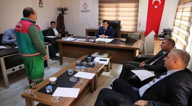 Karaköprü Belediyesi'nde Taşeron Kadro Sınavı Başladı