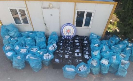 Urfa'da 43 bin paket kaçak sigara yakalandı