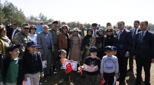 Urfa'da Afrin Şehitleri İçin Zeytin Fidanları Diktiler