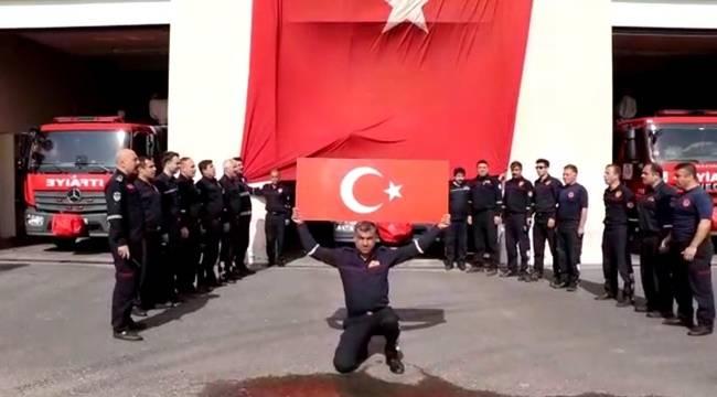 Urfalı İtfaiyecilerden Mehmetçiğe Destek