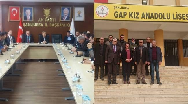 UYGAP'dan AK Parti ve GAP Anadolu Lisesine Ziyaret