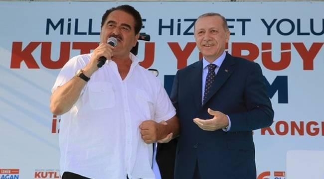 Aday Adayı Tatlıses İzmir'de Sahneye Çıktı